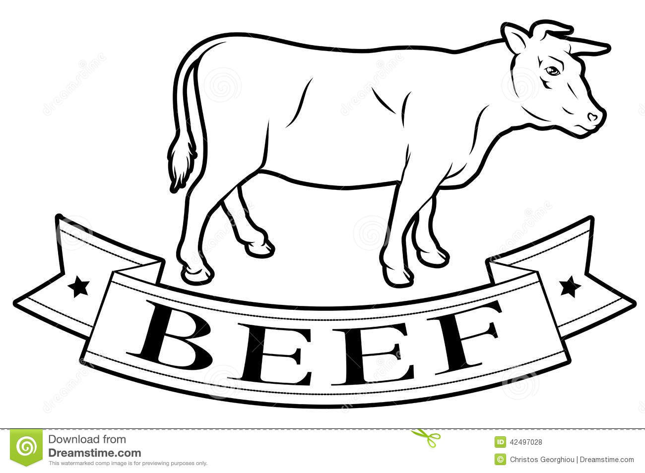 Beef Food Label Stock Vector Illustration Of Label