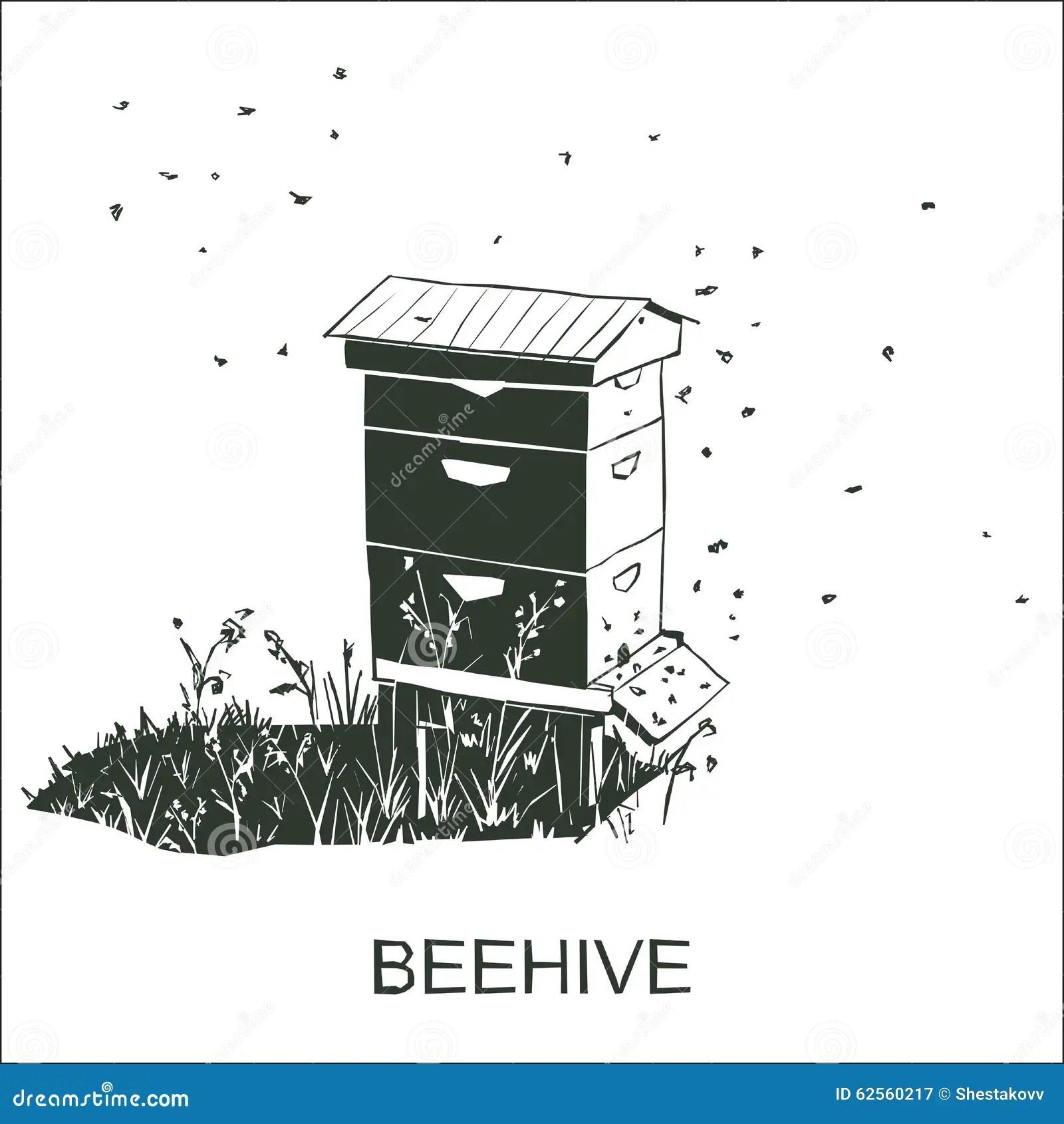 Beehive Vector Stock Vector Illustration Of Beegarden