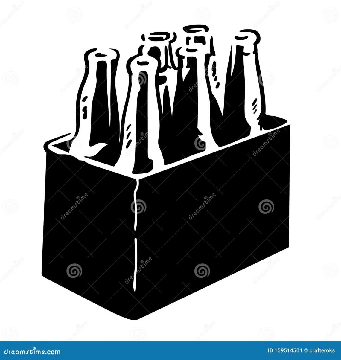 Download Beer Bottle Six Pack Eps File Stock Illustration ...