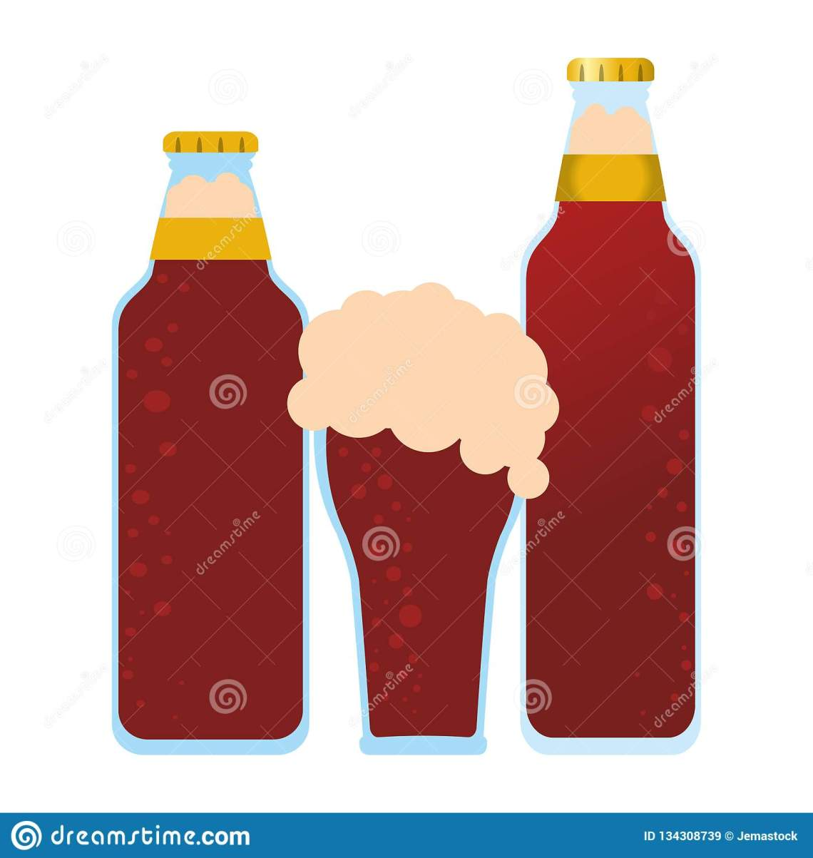 Download Beer bottles and cup stock vector. Illustration of fresh ...