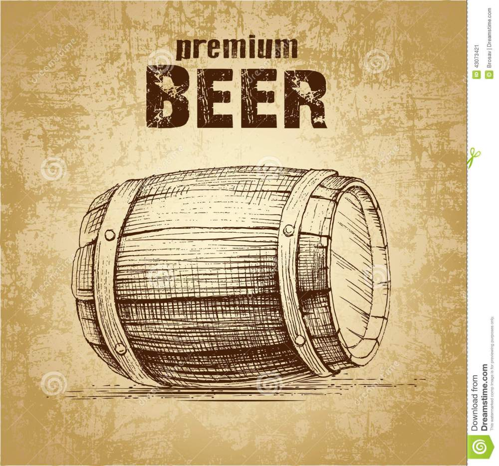 medium resolution of beer keg with wheat for label package
