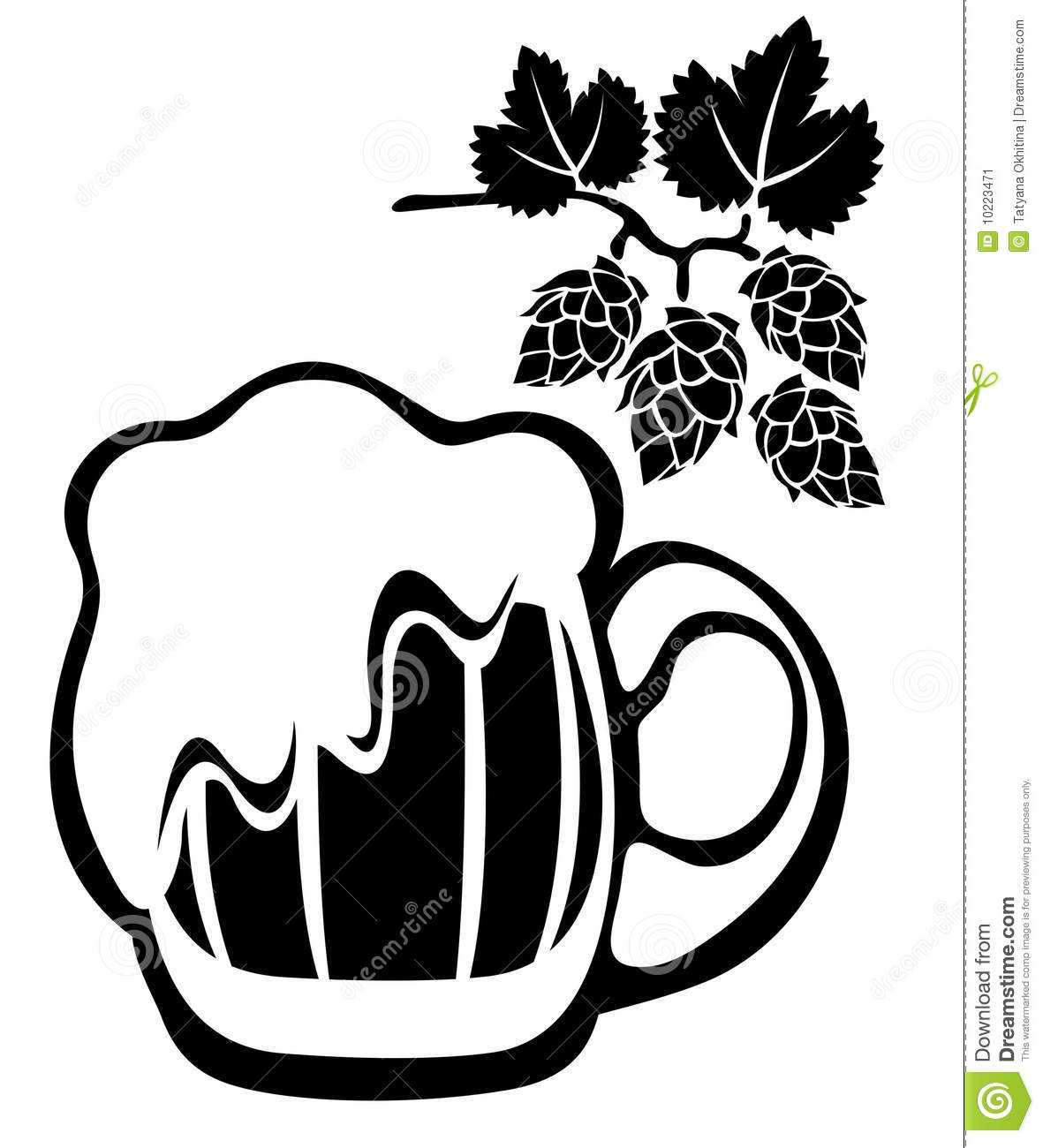 Beer Mug And Hop Stock Vector Illustration Of Image
