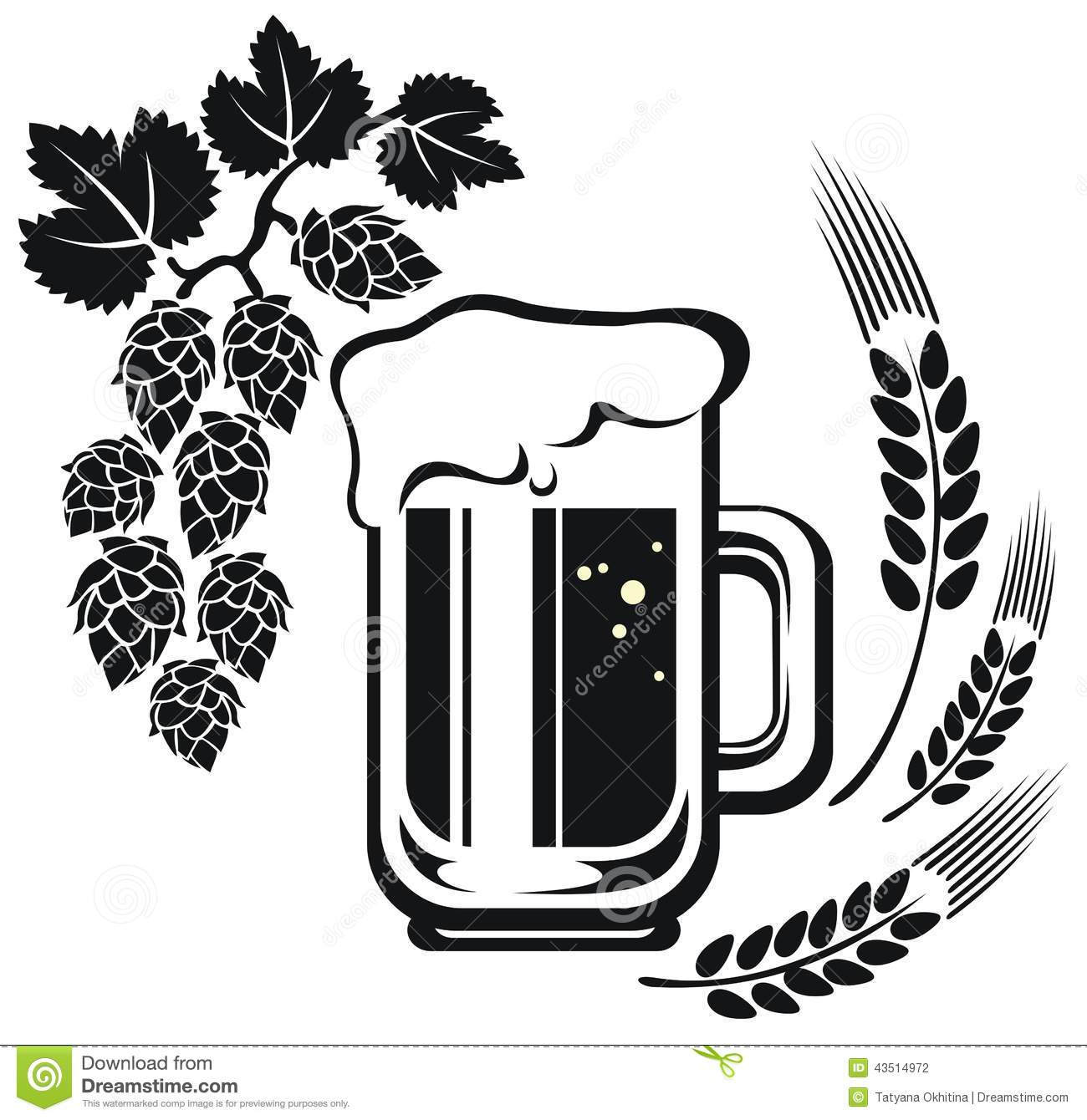 Beer Mug And Wheat Ear Stock Illustration Illustration Of