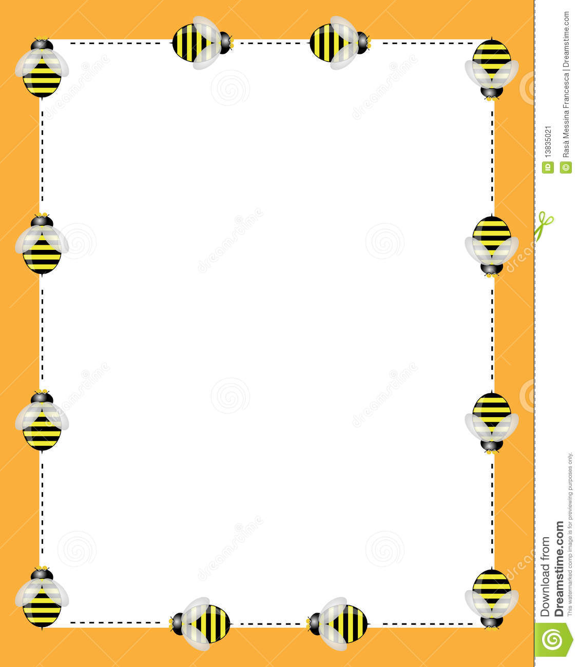 Bees Borders Frame Stock Vector Illustration Of Bees