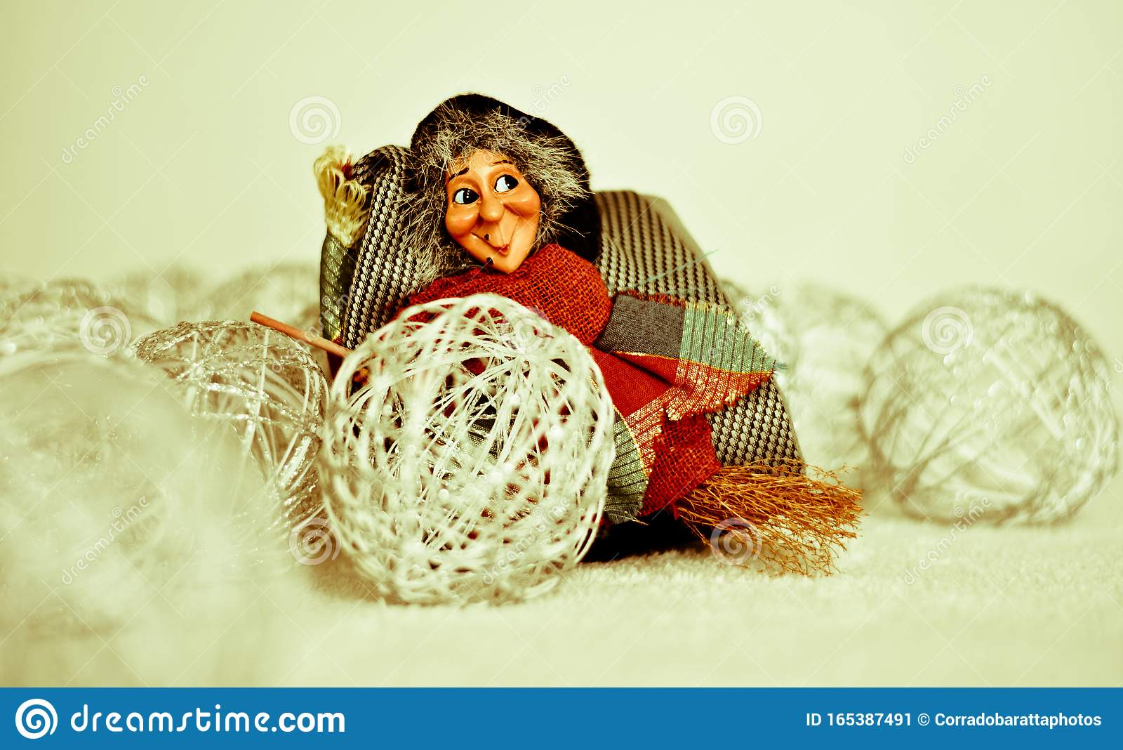 The Befana Brings Ts To Good Children Stock Image