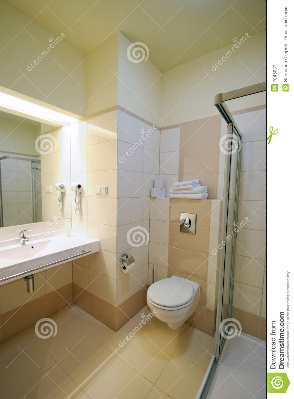 Beige Bathroom Royalty Free Stock Photography  Image 7046037