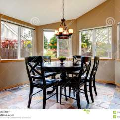 Breakfast Table And Chairs Set Camo Rocking Chair Beighe Round Corner Dining Room Stock Image - Of Idea, Apartment: 37919501