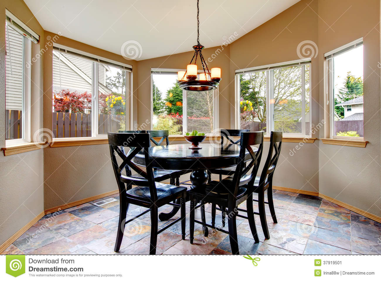 breakfast table and chairs set rifton feeding chair beighe round corner dining room stock image - of idea, apartment: 37919501