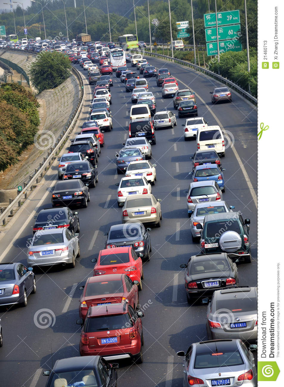 Beijing Heavy Traffic Jam And Cars Editorial Stock Photo - Image of road. price: 21460713