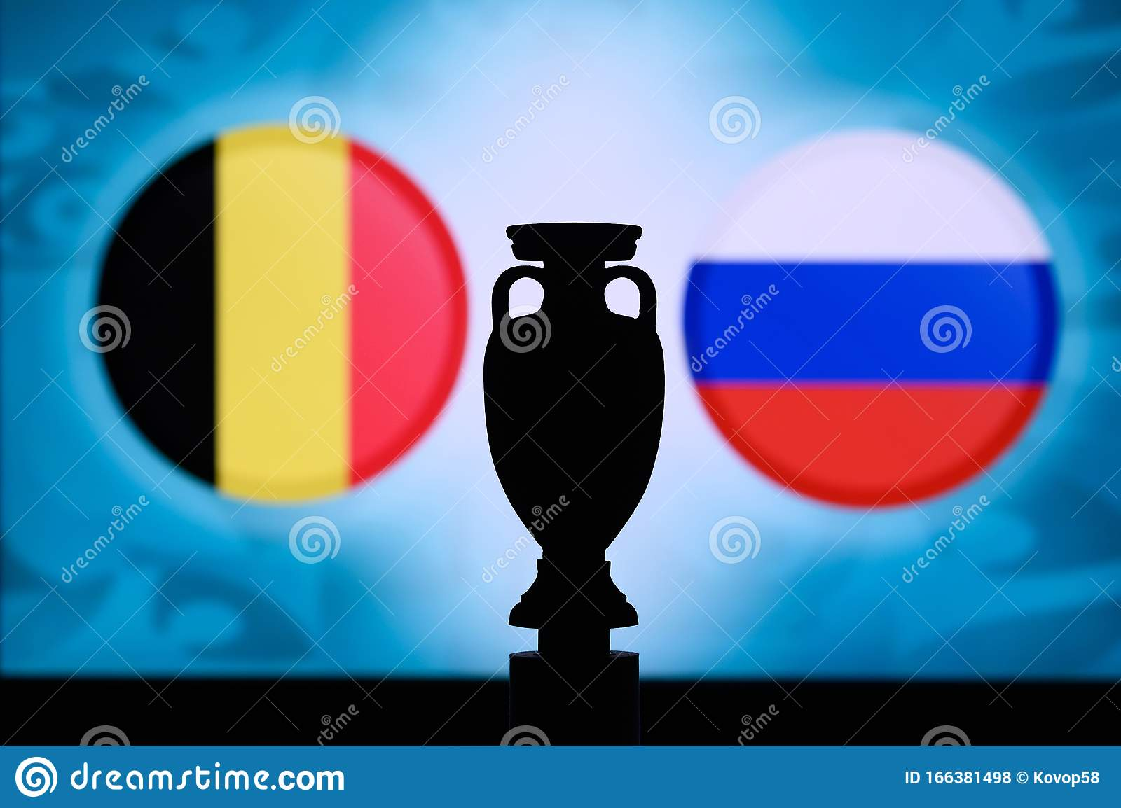 Stream live games and replays (u.s. Belgium Vs Russia, Euro National Flags And Football Trophy ...