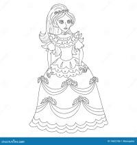 Bella Principessa In Vestito Elegante, Pagina Del Libro Da ...