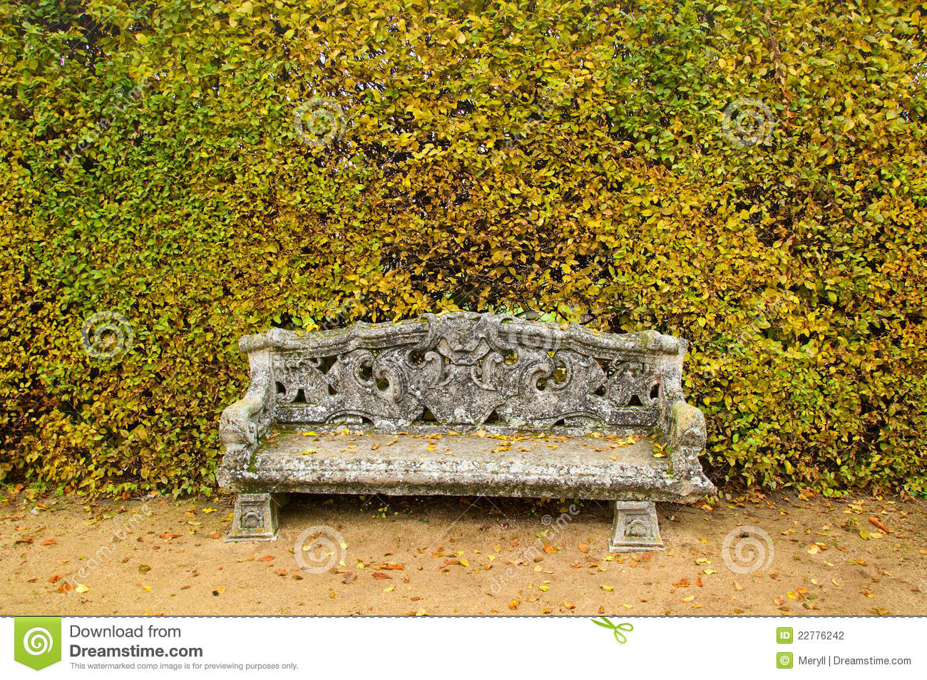 Bench Garden Background Stock Photo Image Of Life Relax