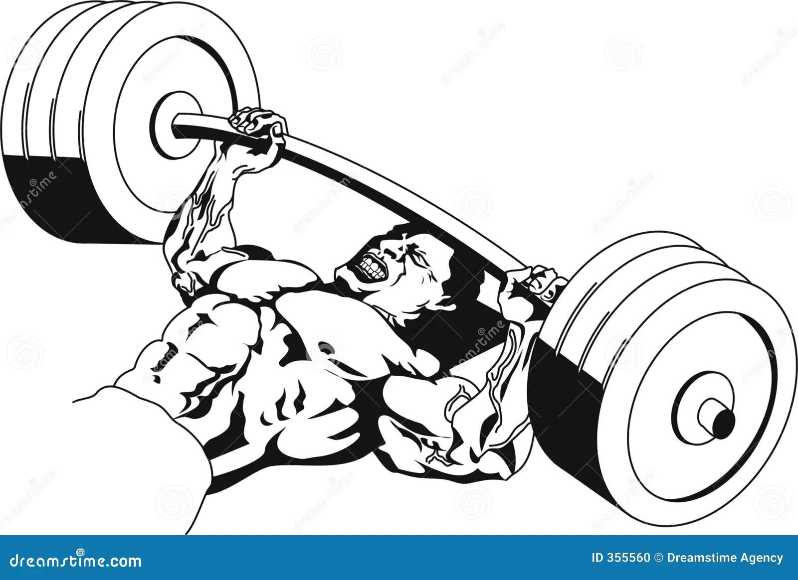 Bench Press Stock Illustration Illustration Of Weights
