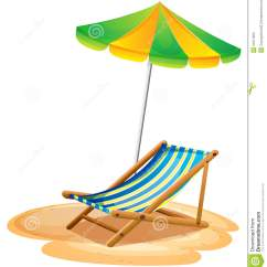 Beach Chair And Umbrella Clipart Blue Upholstered A Bench With Summer Stock Images Image 31911564