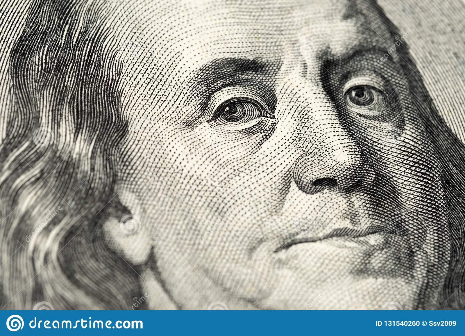 Benjamin Franklin S Portrait On One Hundred 100 American