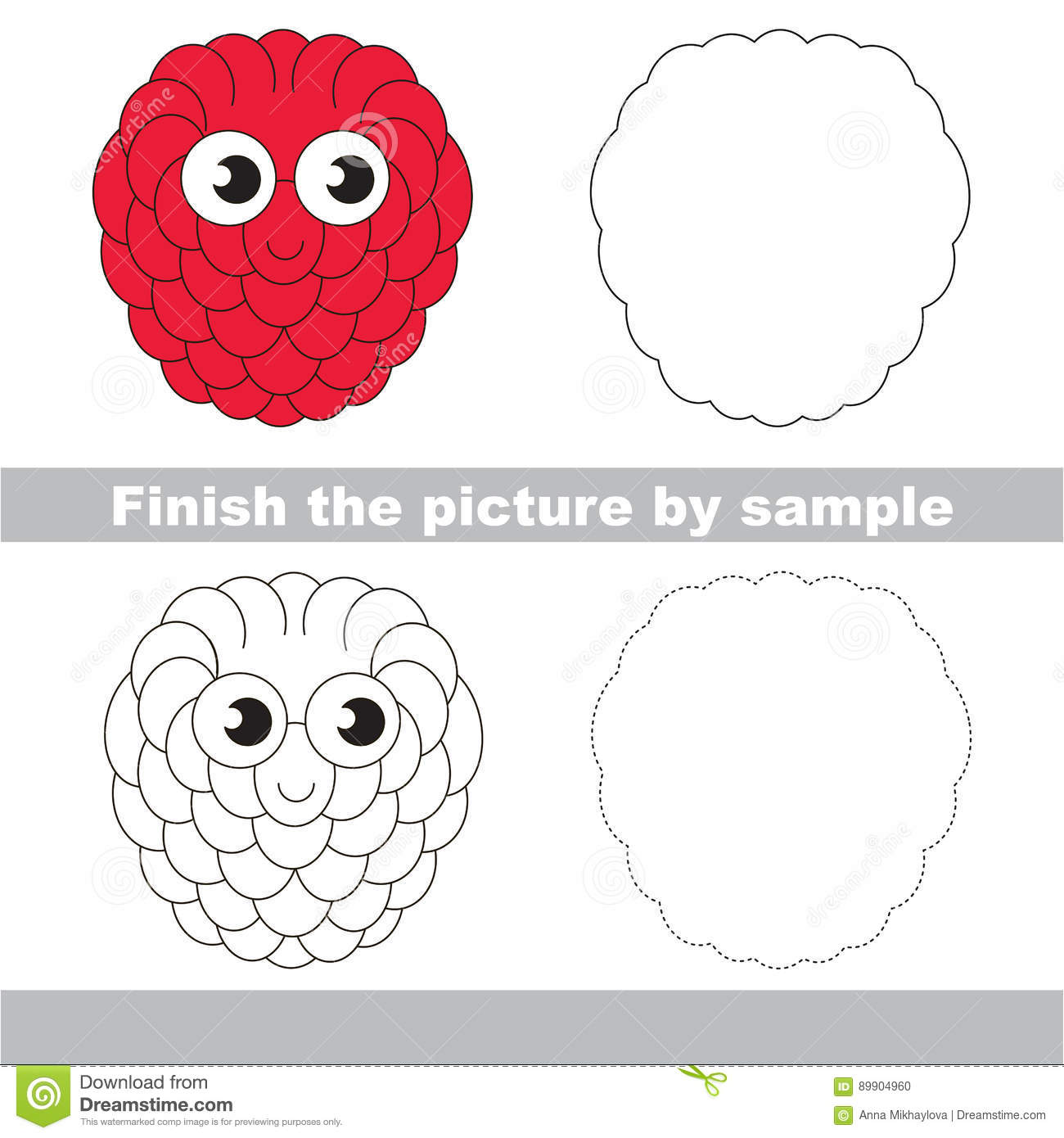 Finish The Symmetrical Drawing Printable