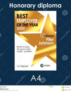 Download comp also diploma best employee of the month golden template with gold metal rh dreamstime