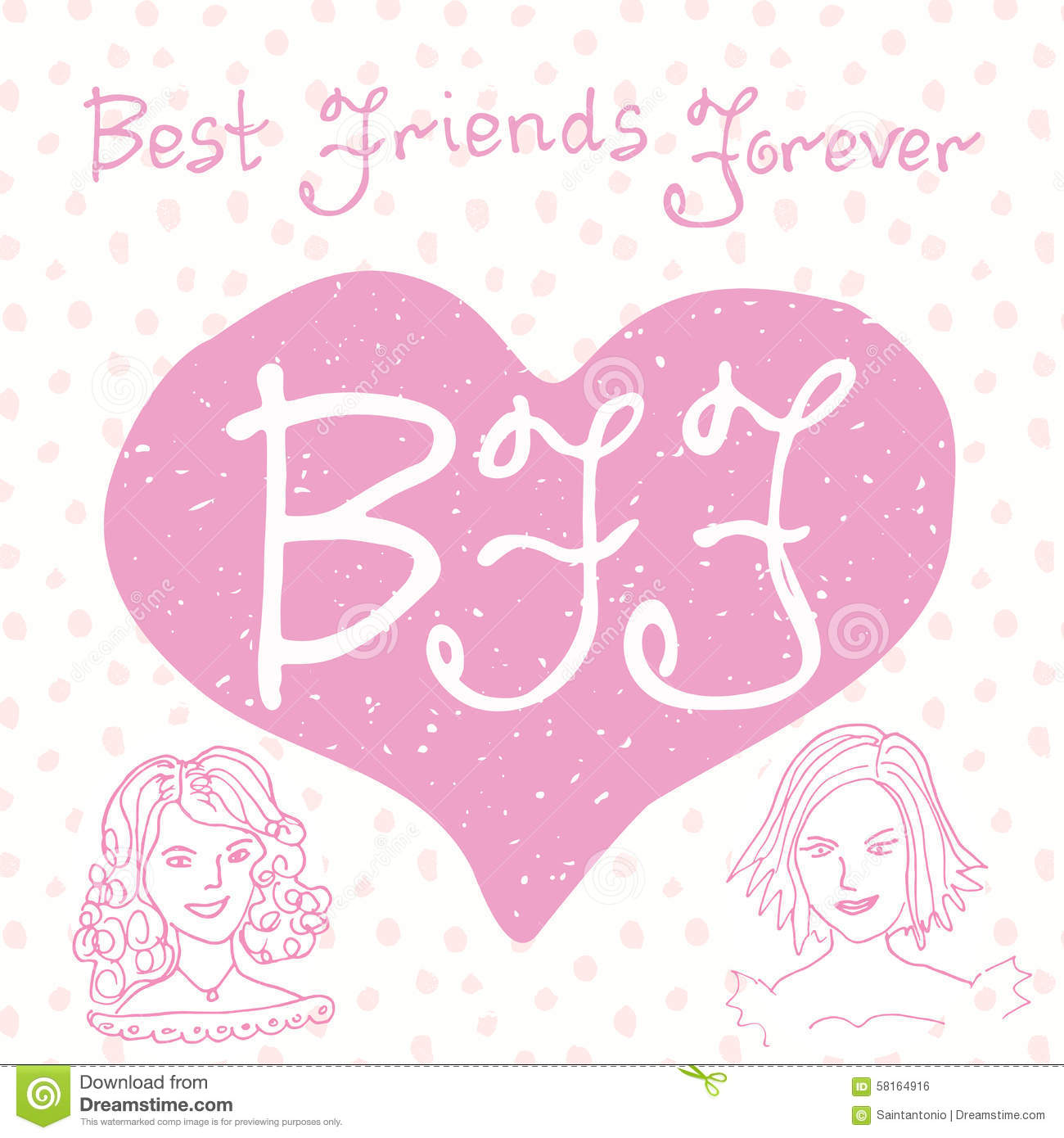 hight resolution of hand lettering quote bff letters in shape of heart cute
