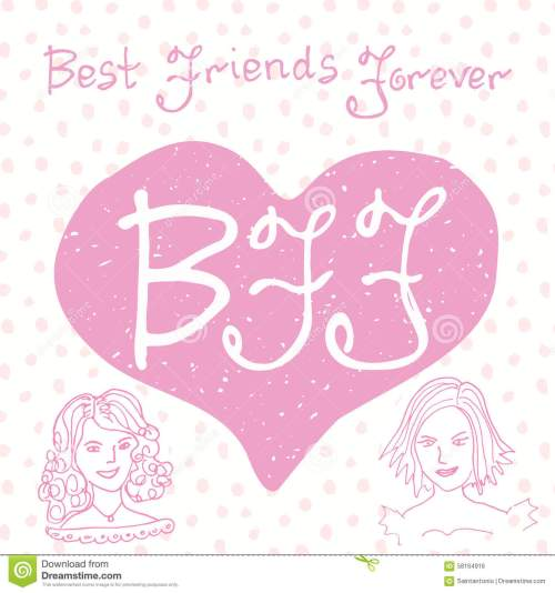 small resolution of hand lettering quote bff letters in shape of heart cute