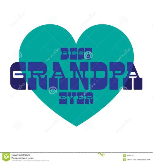 small resolution of best grandpa ever on blue heart
