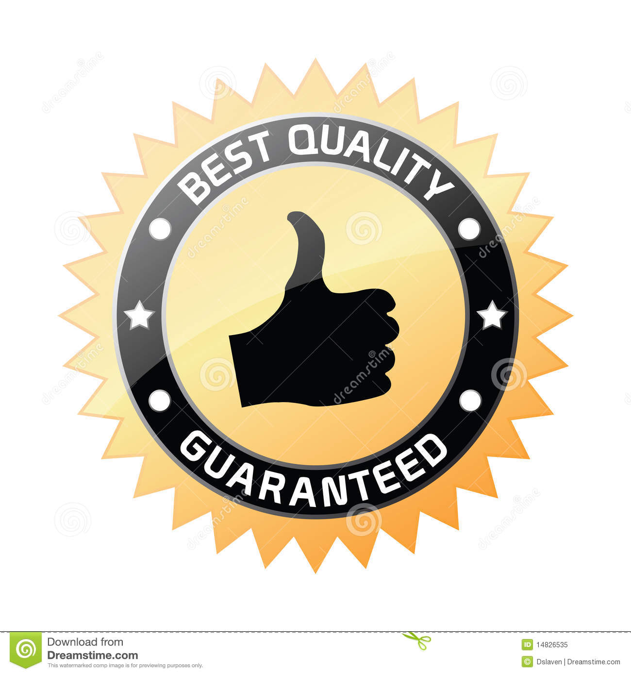 Best Quality Guaranteed Label Stock Vector  Illustration