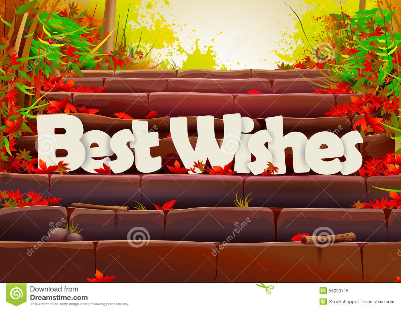 Best Wishes Wallpaper Background Stock Vector Image 55099715