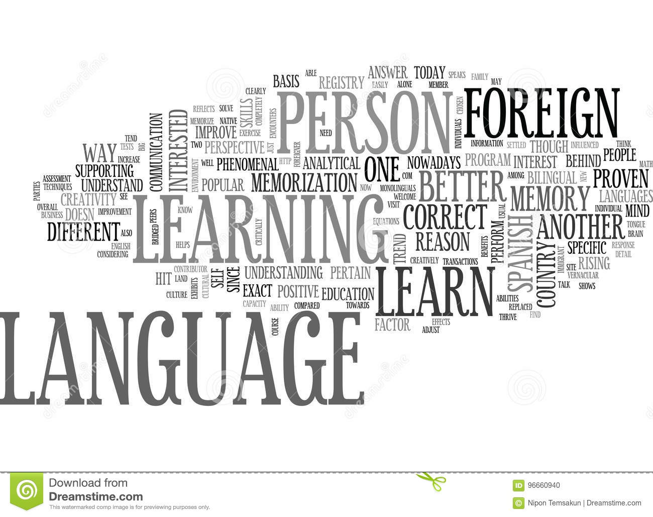 A Better Reason To Learn Foreign Language Word Cloud Stock