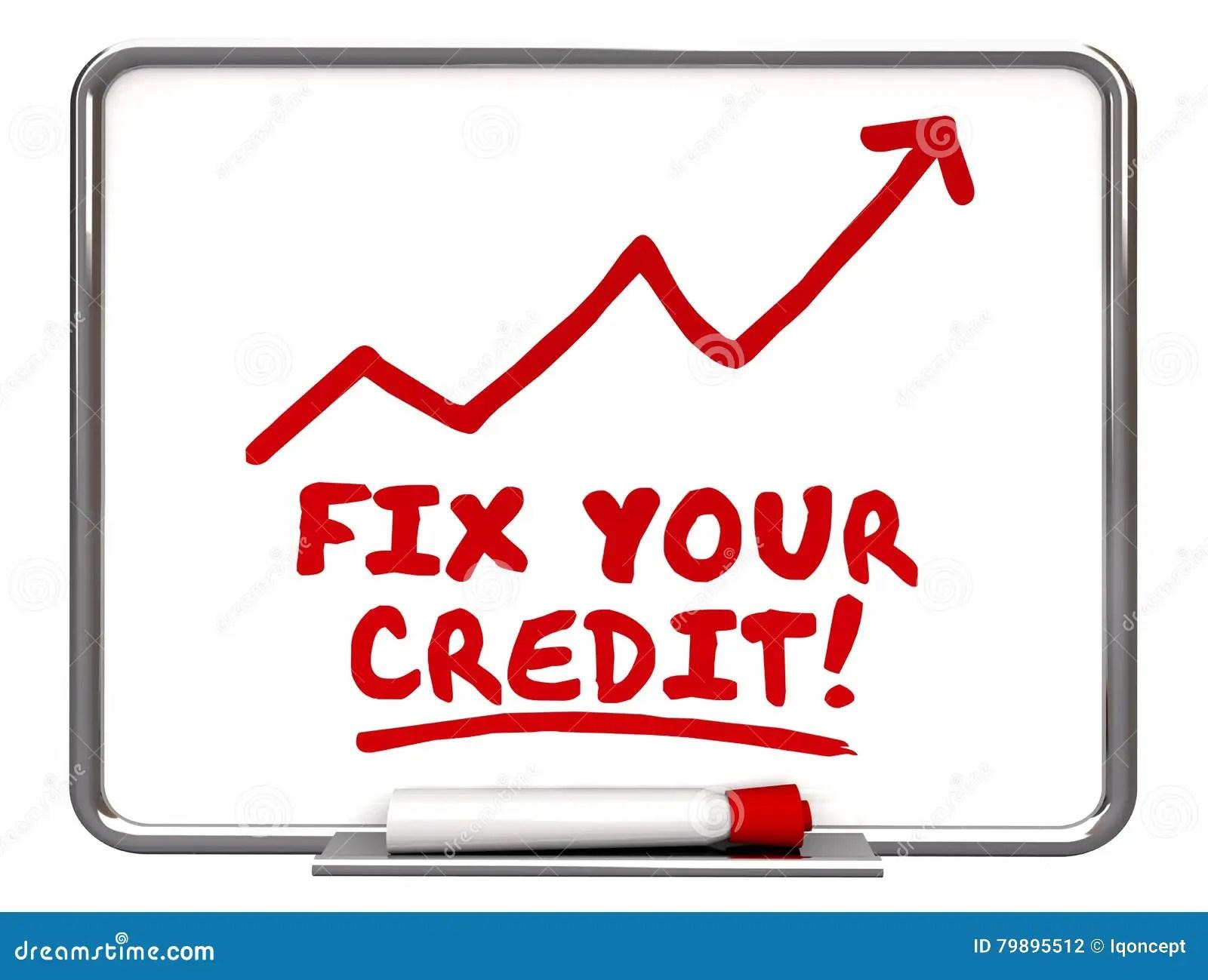 Bevestig Uw Uitgaande De Verbetering Van De Kredietpijl