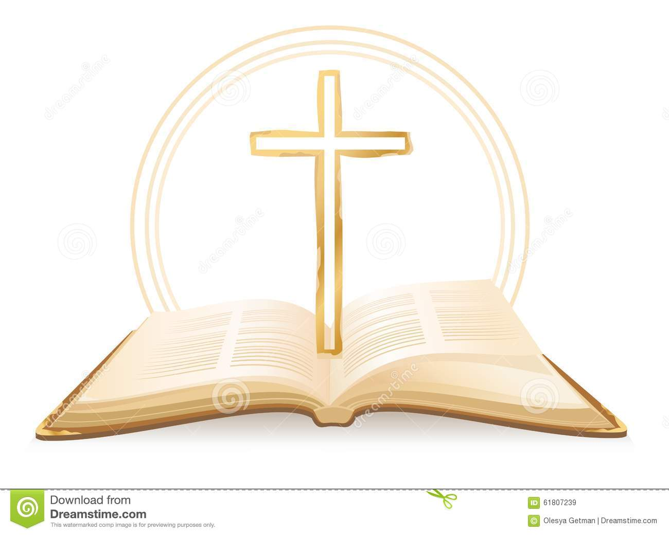 bible and cross stock