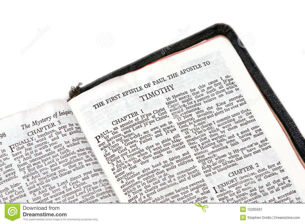 Bible open to timothy stock image. Image of book, text