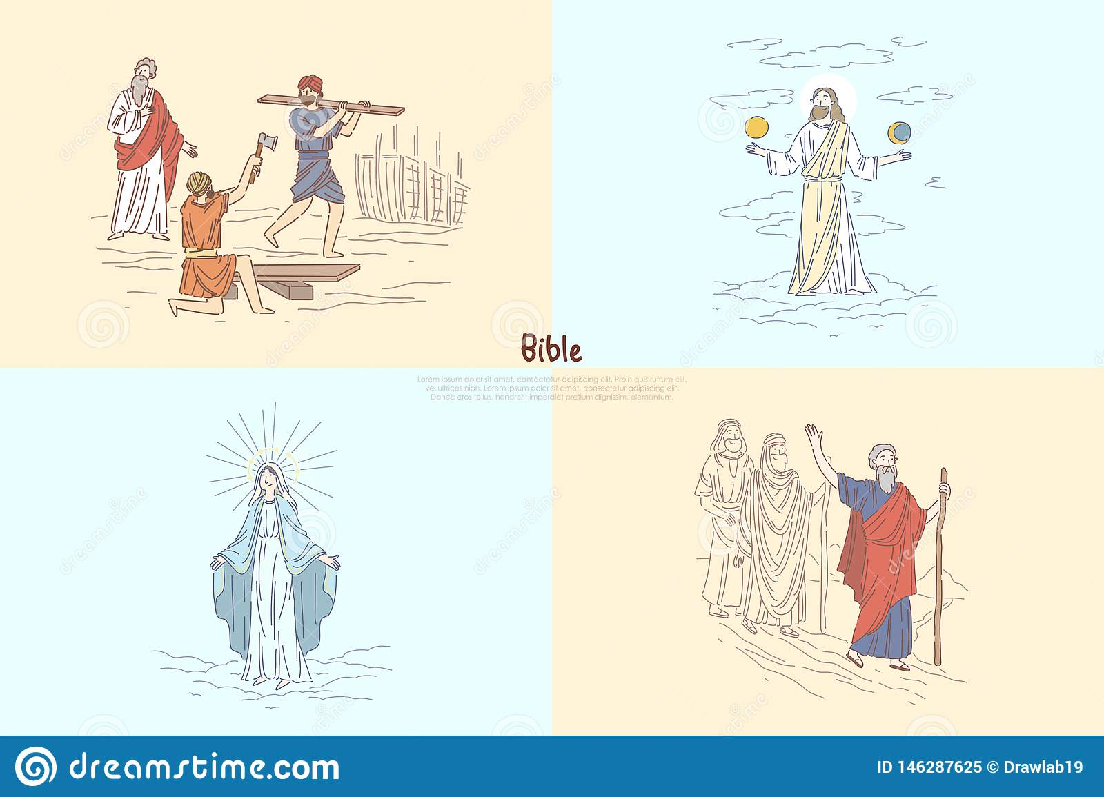 hight resolution of bible story plots myth and legends biblical characters noah ark god creating