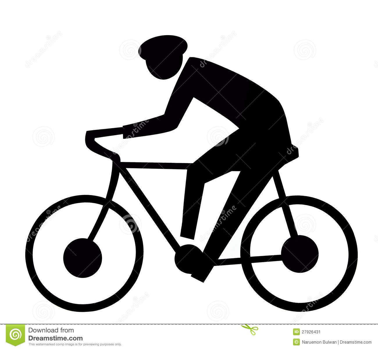 bicycle sign stock image
