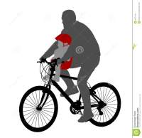 Bicyclist With Baby In Bicycle Chair Stock Image - Image ...