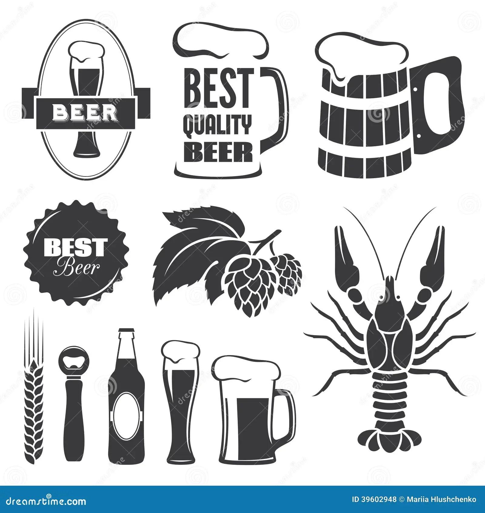 Biersymbole Vektor Abbildung Illustration Von Alcohol