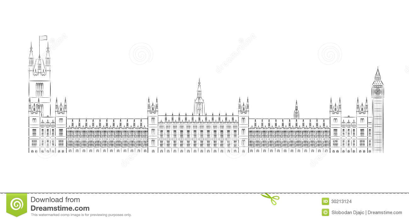 Big Ben And House Of Parliament Vector Illustratio Stock