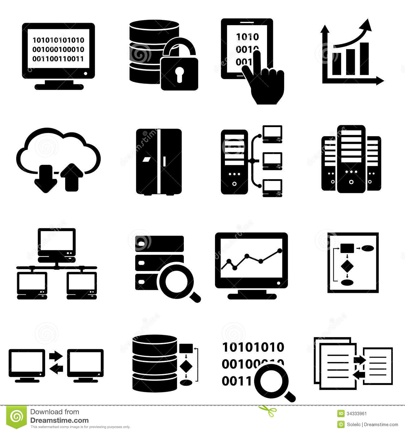Big Data Icon Set Stock Vector Illustration Ofysis