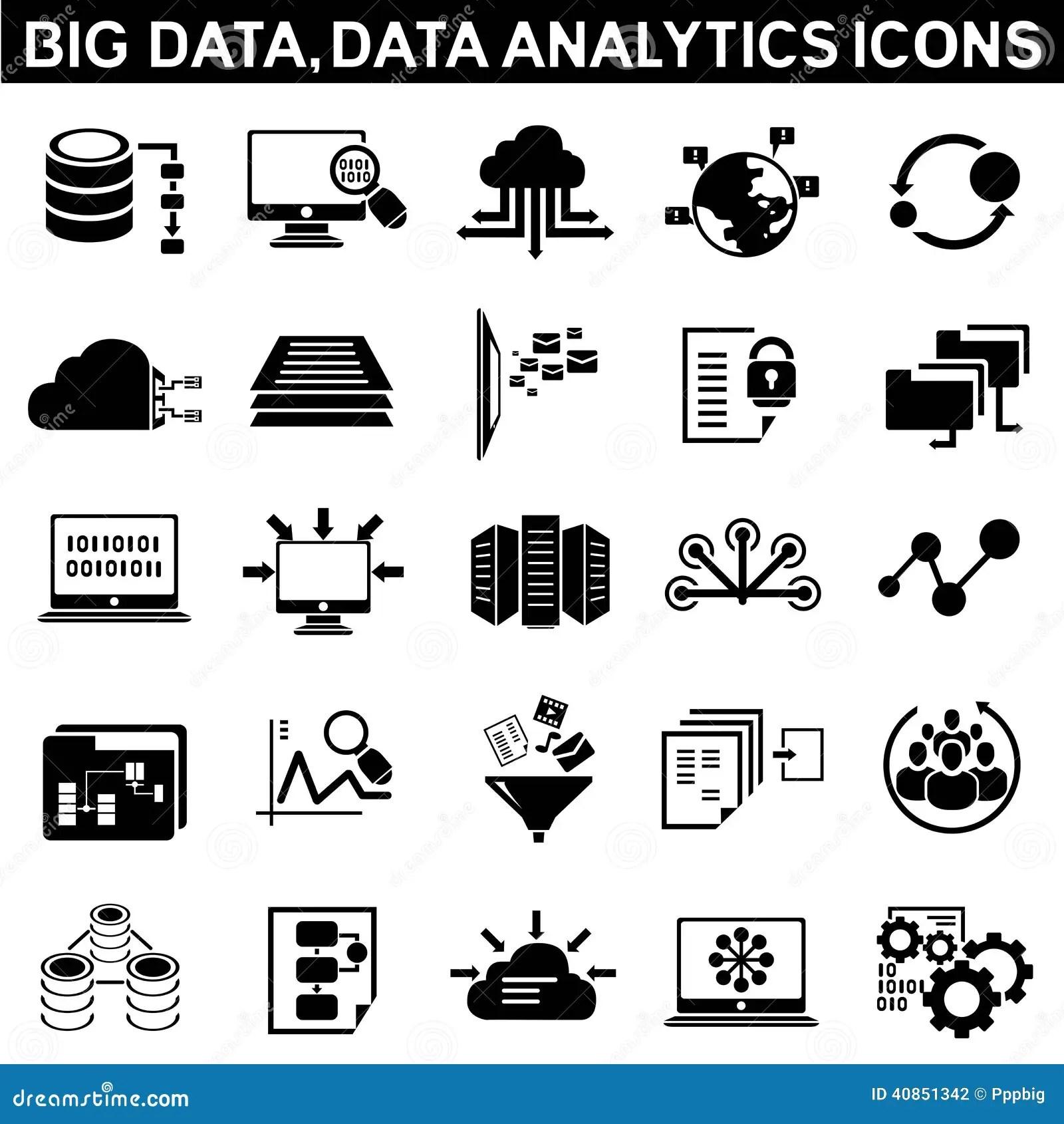 Big Data Icons Stock Illustration
