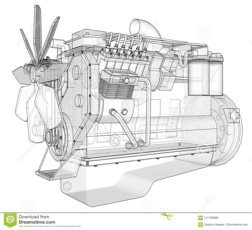 medium resolution of a big diesel engine with the truck depicted in the contour lines on graph paper