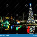 Big Dinosaur Christmas Tree And Holidays Decorations In Echo Lake At Hollywood Studios 5 Editorial Photo Image Of Hollywood Holidays 166685986