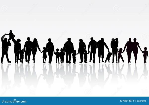 Big Family Stock Vector Image 42813872