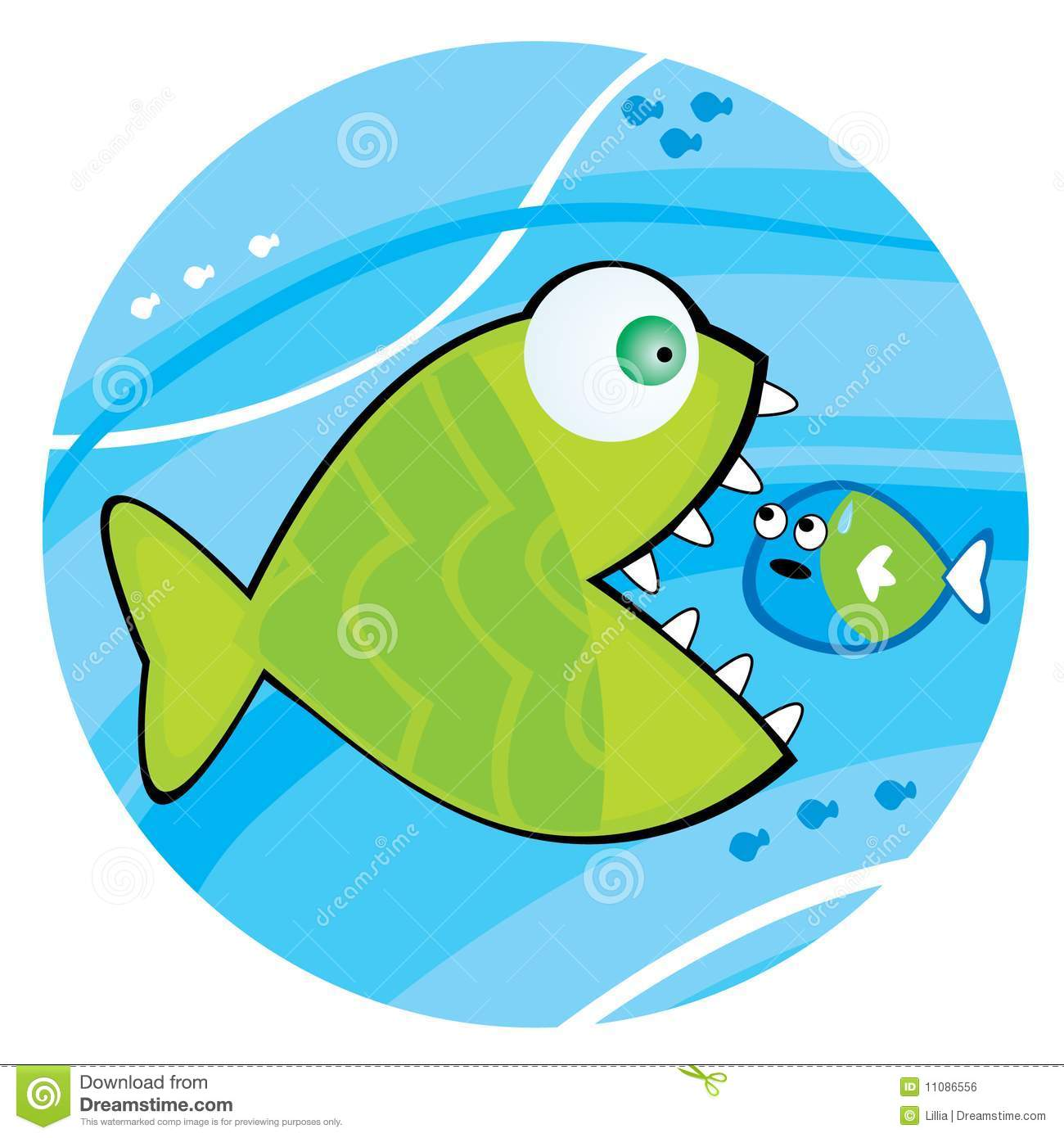 Big Fish Eating A Little Fish Stock Vector