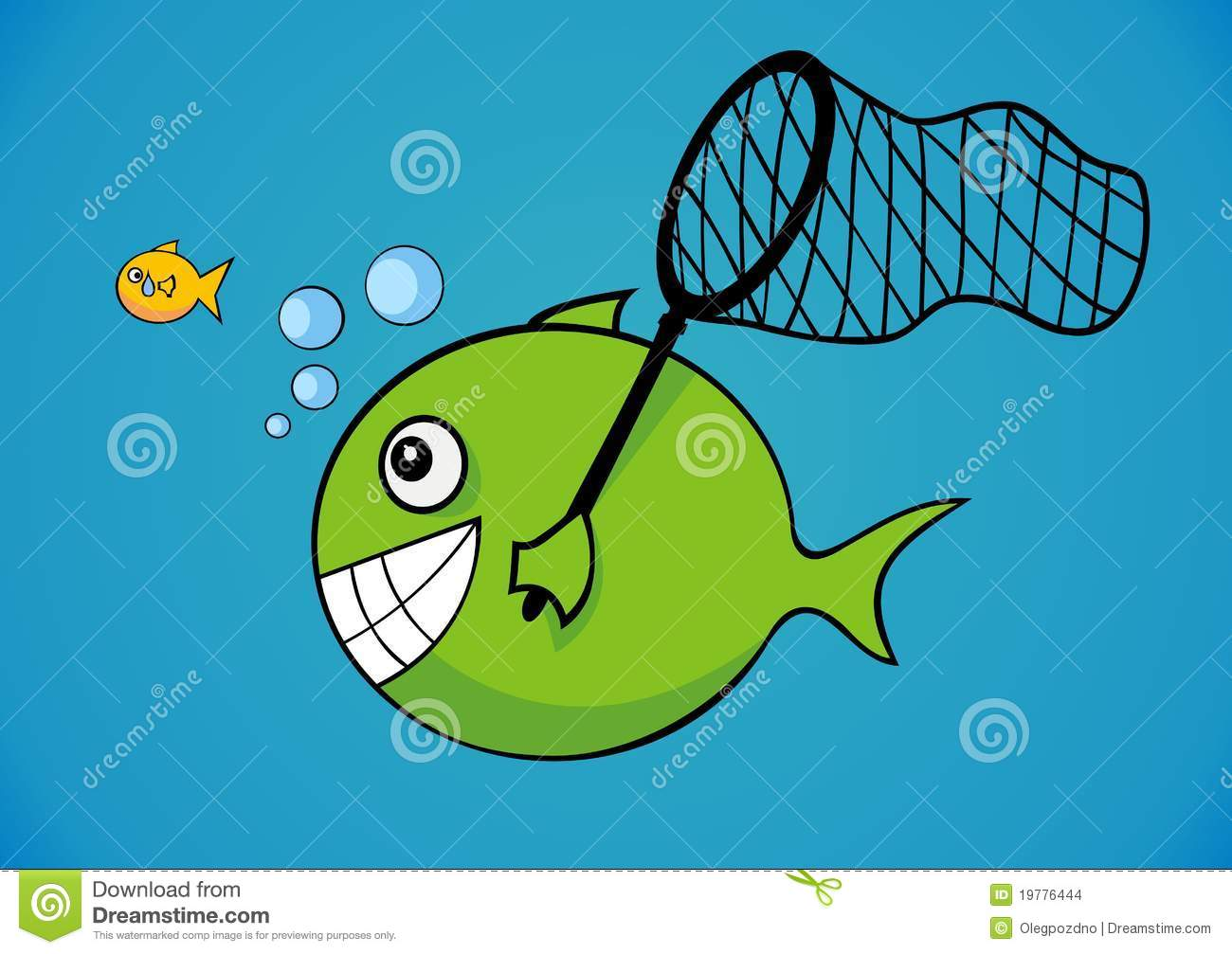 Big And Little Fish Stock Vector Illustration Of Catch