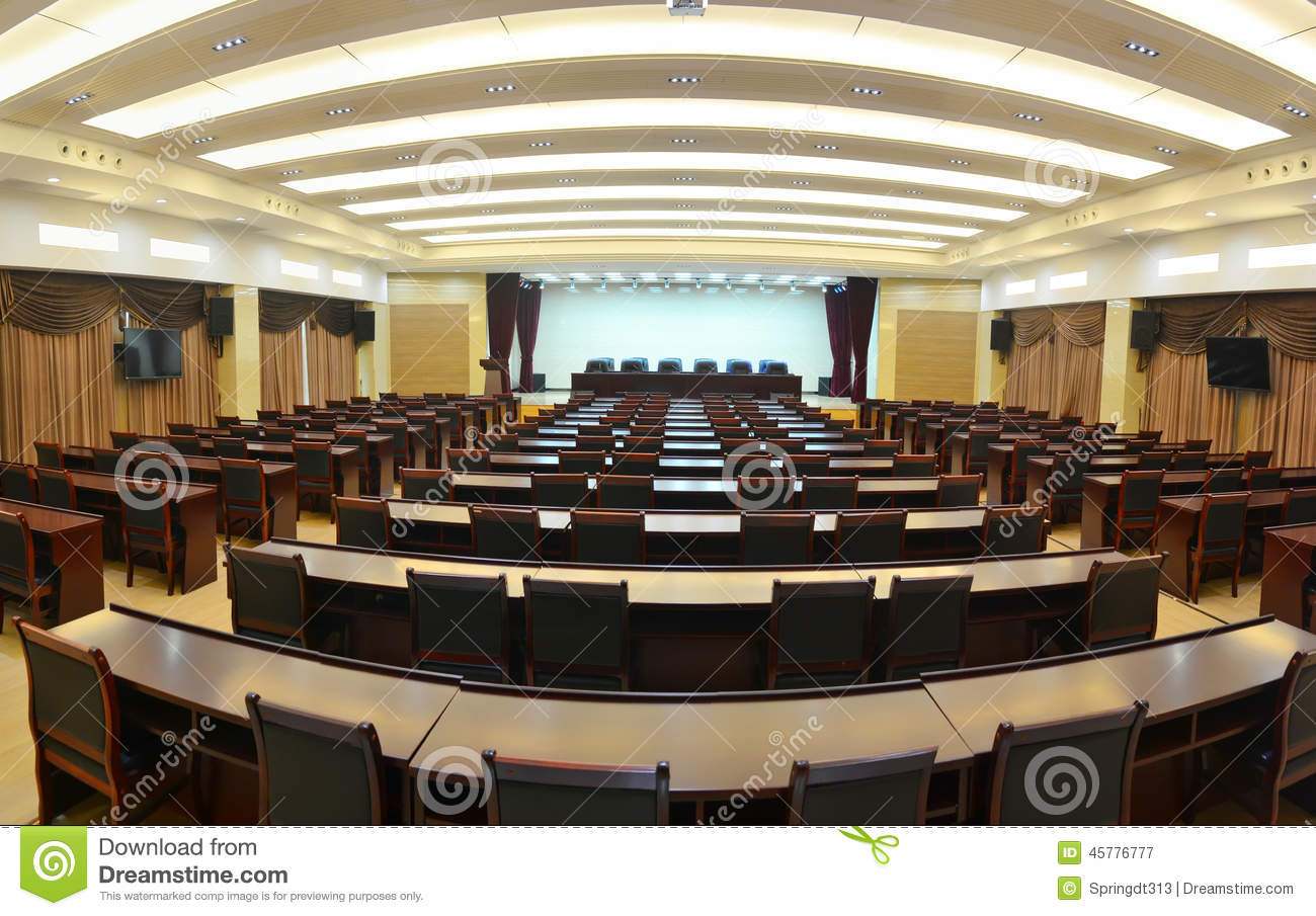 Big meeting room stock image Image of contemporary board