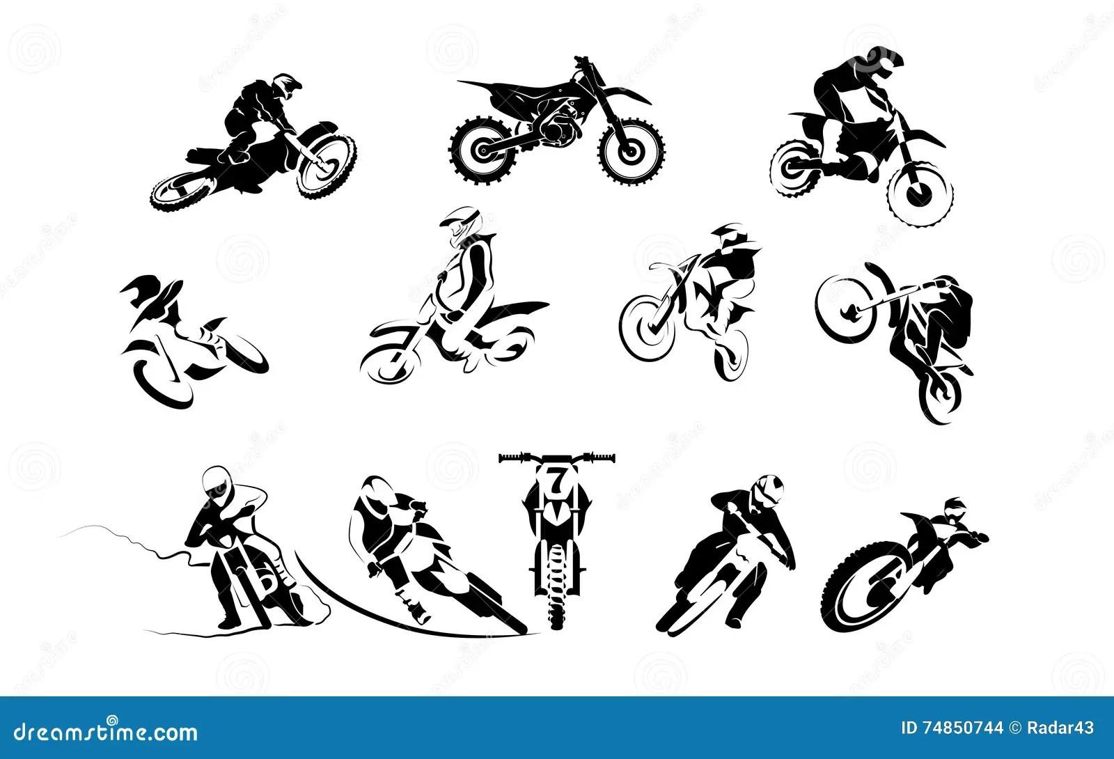 Motocross Set Stock Photo