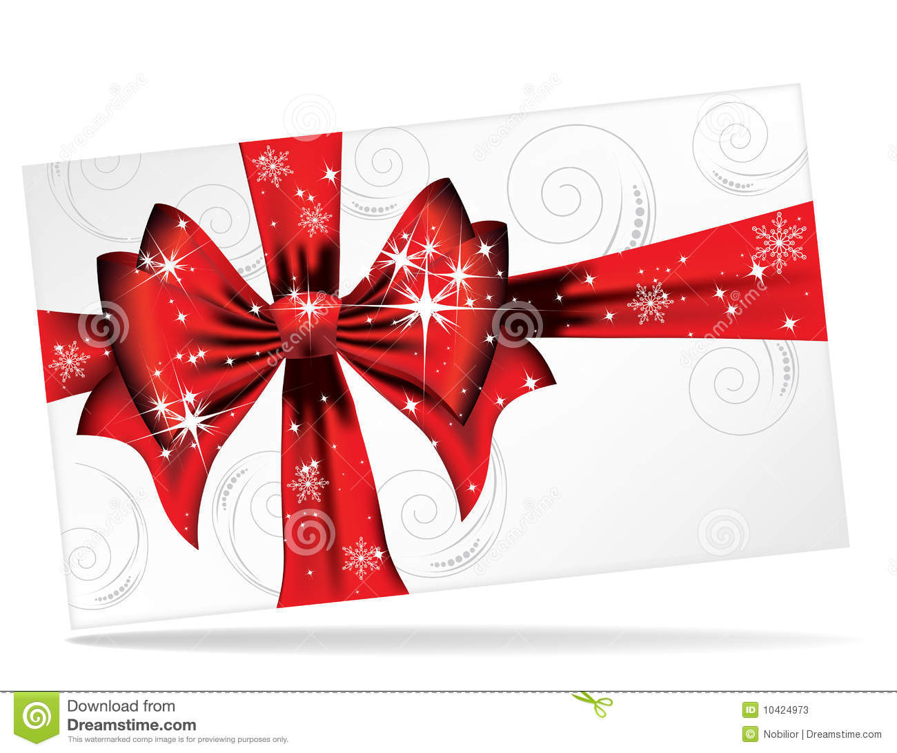 Big Red Bow On A Magical Christmas Letter Stock Photos