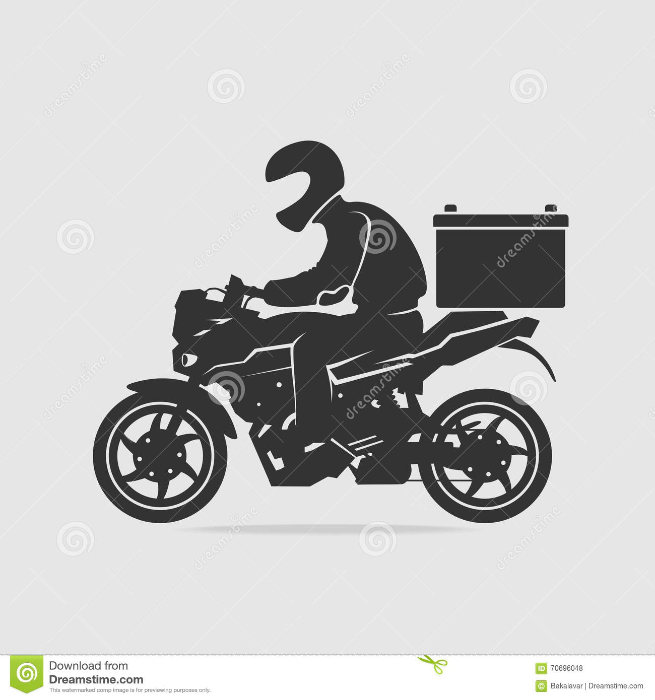 Bike food delivery vector stock vector Image of service