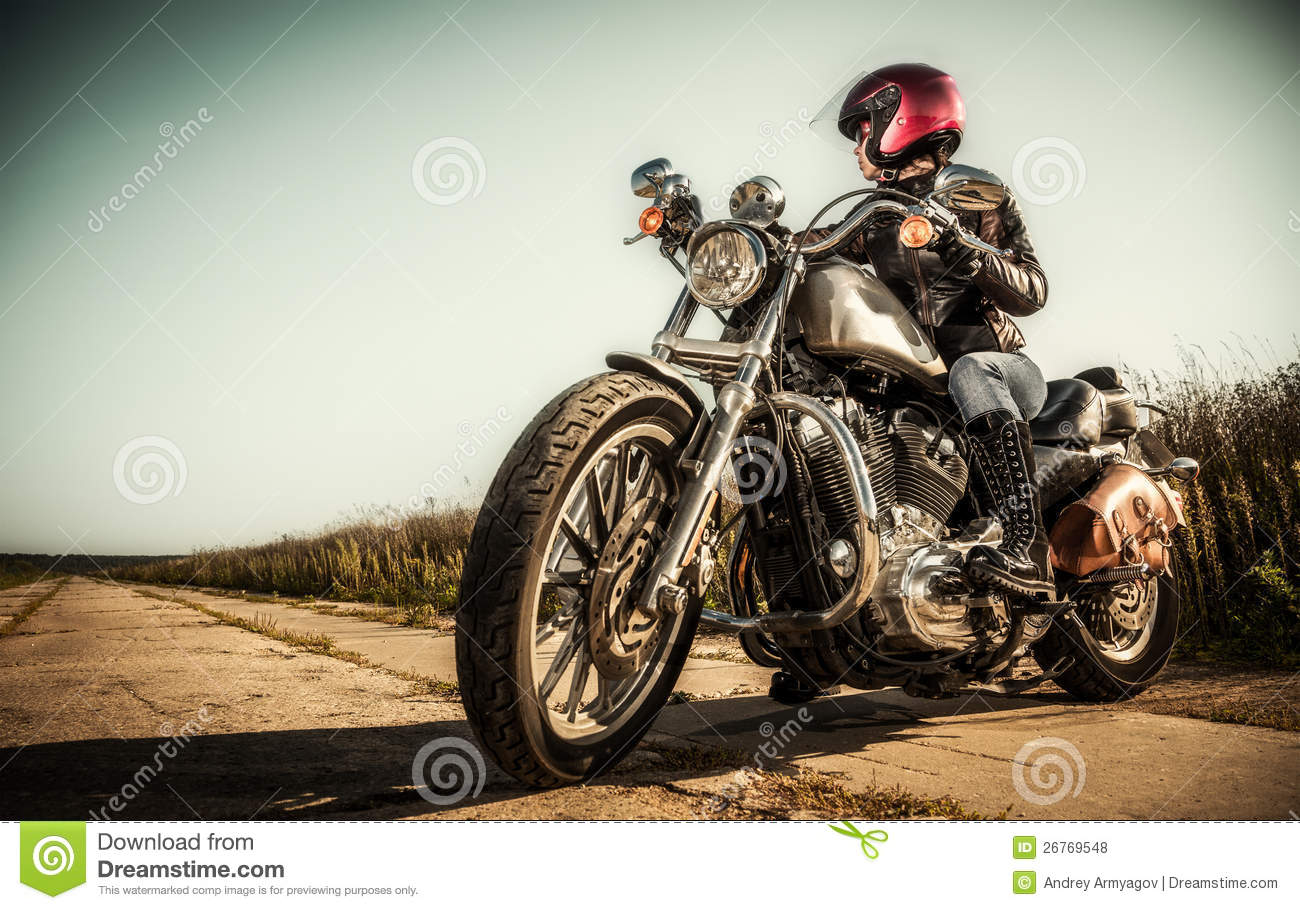 Danger Girl Wallpapers Free Biker Girl Stock Photo Image Of Attractive Lady Motor