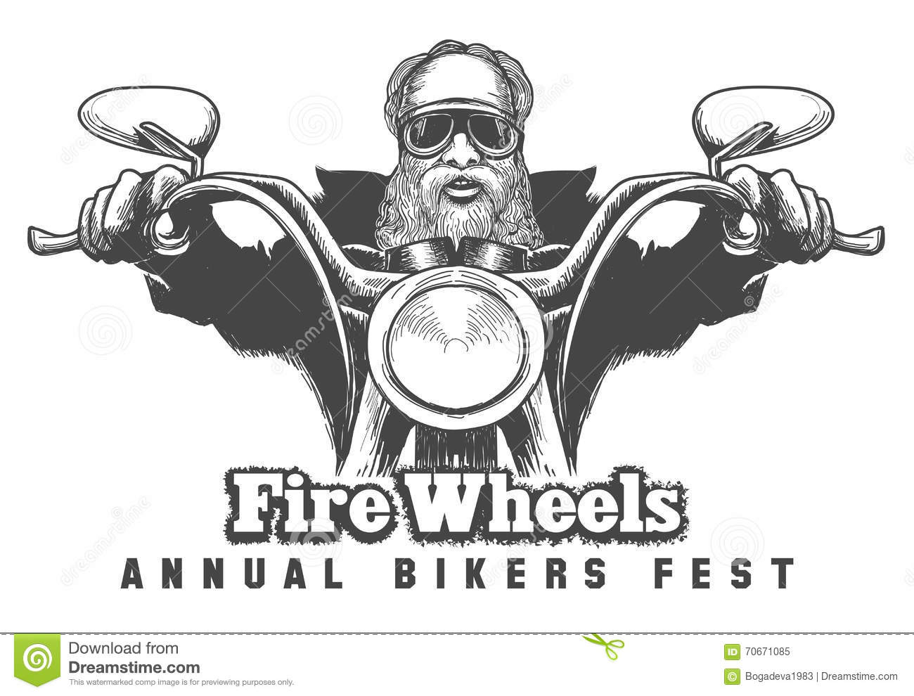 Bikers Festival Emblem Stock Vector Illustration Of Sign