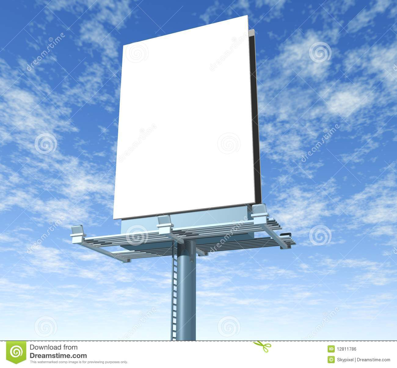 Billboard Outdoor Display With Sky Stock Illustration