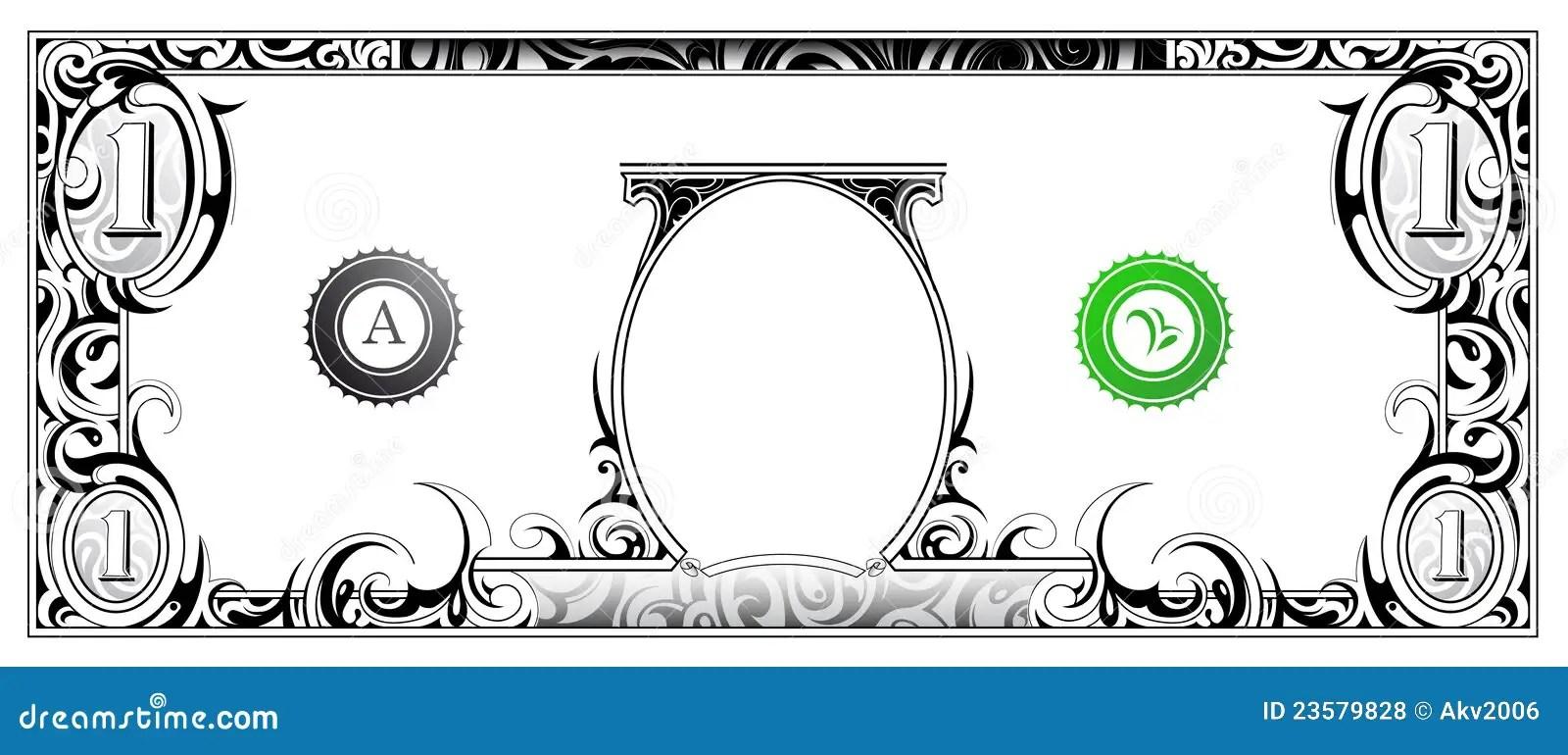 Billet d'un dollar illustration de vecteur. Image du